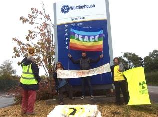 Remember Windscale - Outside Springfields, Westinghouse Nuclear Fuel Plant, Preston