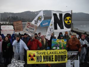 Ditch the Dump Demo- Bowness 19th Jan