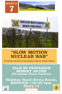 Prof R Jacobs 'Slow Motion Nuclear War' poster.png
