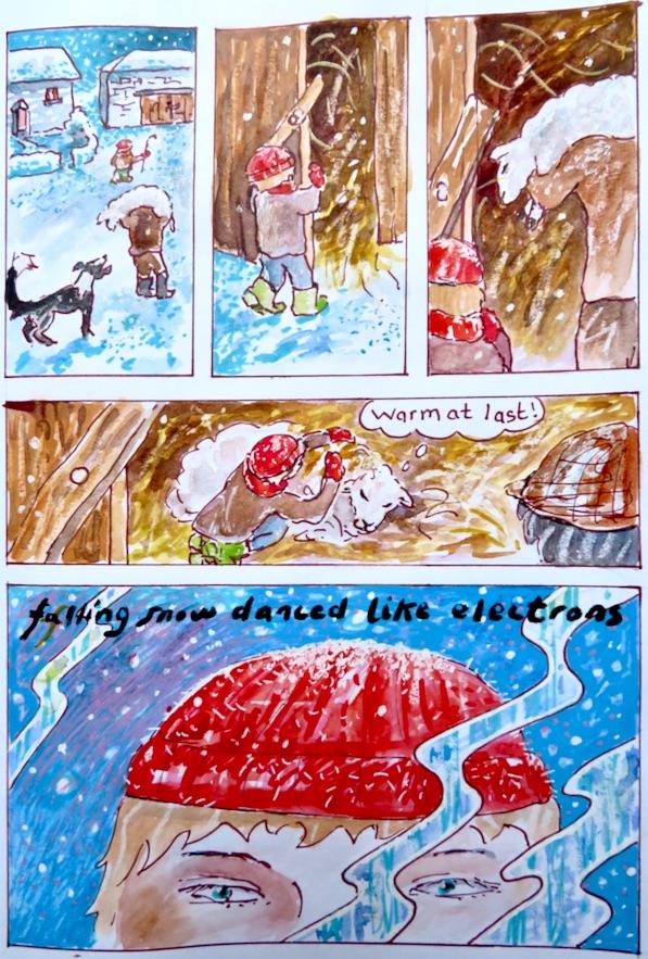 """Falling snow danced like electrons.."".jpg"